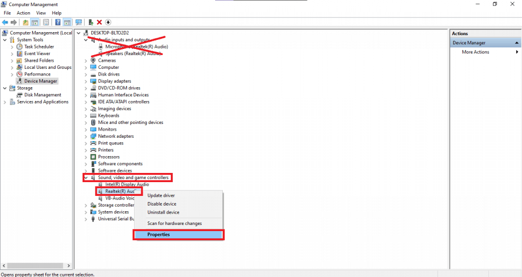 Reinstall the audio drivers 2