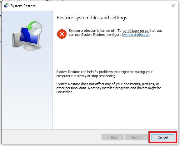 Reset Windows 10 or use system restore 3